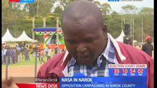 NASA co-principals will be transverse Narok County for the second day running