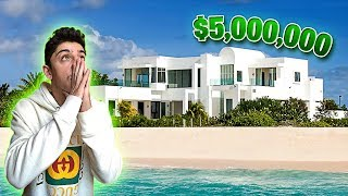 MY NEW $5,000,000 BEACH HOUSE!! (10 MILLION SURPRISE)