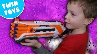 Nerf War:  Protect the Fort Kids Eating Crickets Kids React