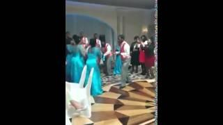 Wedding reception praise break