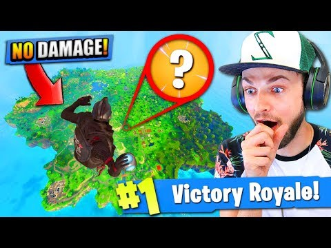 Falling at *MAX* HEIGHT - Can a PORT-A-FORT save you? - Fortnite: Battle Royale!