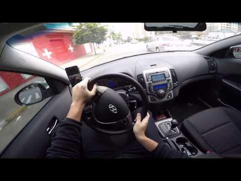 Hyundai i30 2010 2.0 automático 4 marchas Test Drive Onboard POV GoPro