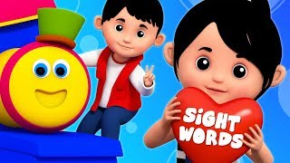 Sight Words | Learning Street With Bob The Train | Kindergarten Nursery Rhymes by Kids Tv collection
