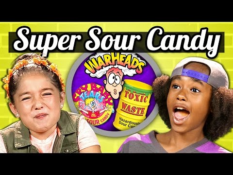 KIDS vs. FOOD SOUR CANDY CHALLENGE