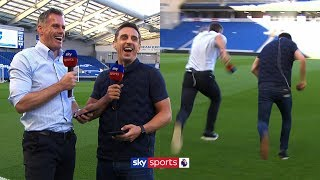 Carragher & Neville race each other and answer fan questions! | Instagram  Q&A