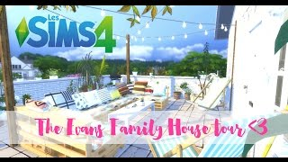 The Sims 4 - Newcrest EP #9 - House tour - The Evans family house full furnished (CC included)