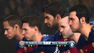 PES 2016 | PENALTY KICKS BARCELONA FC vs REAL MADRID PS4