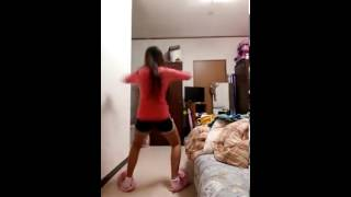 16 year old girl dancing A** while her boyfriend is filming