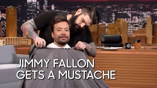 Jimmy Fallon Gets a Mustache