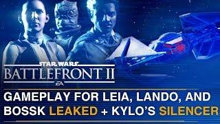 LEAKED Leia, Lando, Bossk and Kylo Ren TIE Silencer Gameplay | Battlefront Update