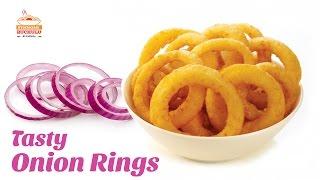 Tasty Onion Rings Recipe | Crispy Onion Rings | How to Make Onion Rings | Hyderabadi Ruchulu