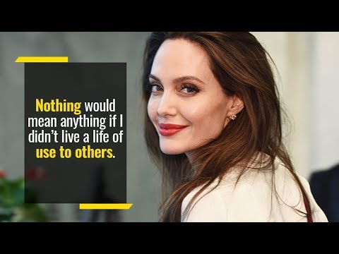 Emotional Angelina Jolie Speech That Will Inspire You To Be Of Use