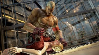 [4K60p] Tekken 7 - Bryan Fury continues to viciously punch the female fighters