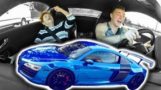 GRANDMOM VS  SUPERCAR AUDI R8 LAUNCH (HILARIOUS)