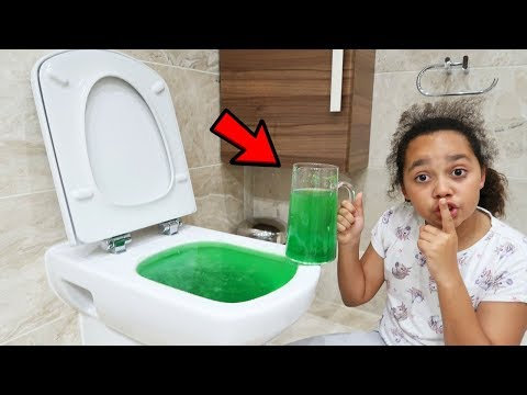 SLIME PRANK IN MY DAD S TOILET