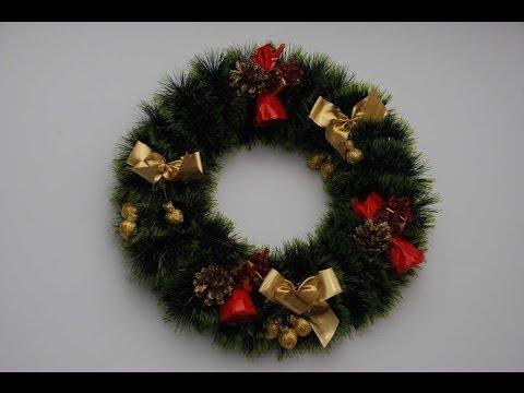 Рождественский венок своими руками. Handmade Christmas Wreath. - YouPak.pk Largest Collection of HD Videos