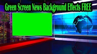 Green Screen News Background Effects Free Download  [4K]