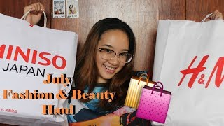 July 2017 Haul ft. Miniso, SM Dept., H&M, Bench, Sleek | Philippines