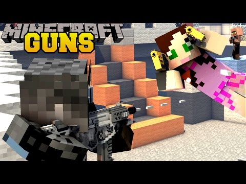 Minecraft TOO MANY GUNS ROCKET LAUNCHERS LASER GUNS & FUTURISTIC GUNS Mod Showcase
