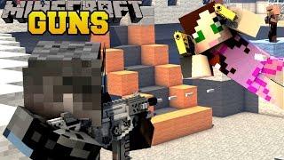 Minecraft: TOO MANY GUNS (ROCKET LAUNCHERS, LASER GUNS, & FUTURISTIC GUNS) Mod Showcase
