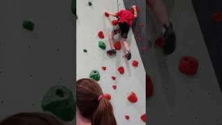 Erik rock wall climbing