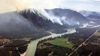 Battling B.C.'s wildfires from above