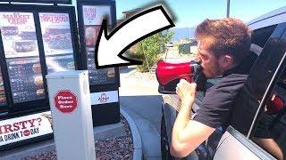 Megaphone In The Drive Thru!