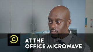 At the Office Microwave - Did You Catch the Big Game?