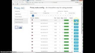 Chrome   How to setup proxy list auto config