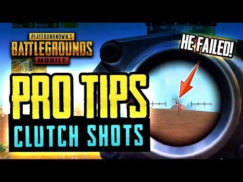 PRO TIPS & CLUTCH SHOTS PUBG Mobile