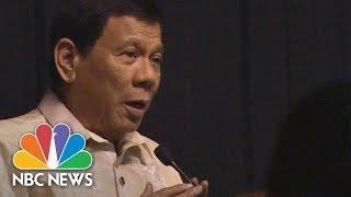 Philippines President Rodrigo Duterte Serenades To President Donald Trump At Dinner | NBC News