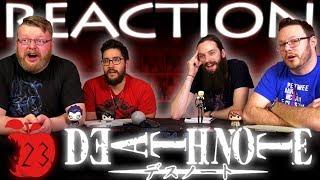 Death Note Episode 23 REACTION!!