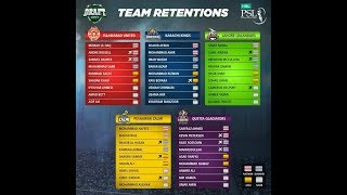 PSL 2018 All teams Retained players list | All teams players list for Pakistan super league 2018
