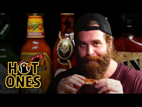 Xxx Mp4 Harley Morenstein Has His Worst Day Of 2016 Eating Spicy Wings Hot Ones 3gp Sex
