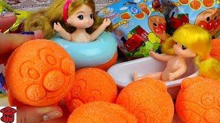 ★토이구마★호빵맨 바스볼♨터져라!!목욕폭탄!!!장난감 입욕제★Bath Ball/Bath Boobs Bubble Balls Toys Surprise★バスボール びっくら?たまご