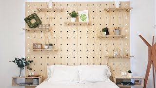 How To Build A Bed With Modular Pegboard Shelf System