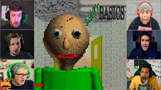 Gamers Reactions to Angry Baldi (JUMPSCARE) | Baldi