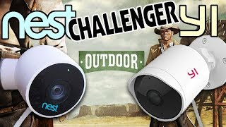 NEST VS YI Best Outdoor Security Camera 1080P | Best 2018 Review & Demo