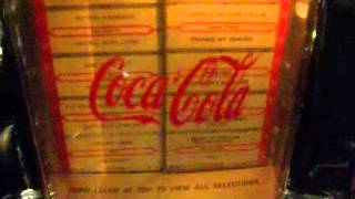 coca cola table top cassette tape player & radio