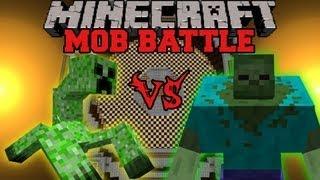 Mutant Zombie Vs. Mutant Creeper - Minecraft Mob Battles - Mutant Creatures Mod