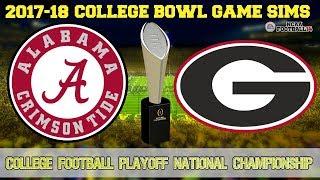 2018 NCAA College Football Playoff Championship Sim | Alabama vs Georgia (NCAA Football 14)