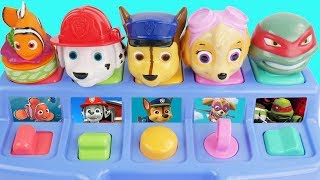 Pop Up Toys with Paw Patrol and Finding Nemo