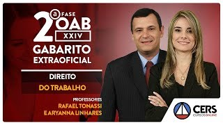 Trabalho | Gabarito Extraoficial OAB 2ª Fase | Profs. Aryanna Linhares e Rafael Tonassi