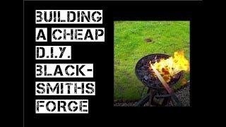 Building a cheap DIY blacksmiths forge