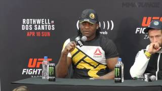 UFC Fight Night 86 Francis Ngannou post presser highlight