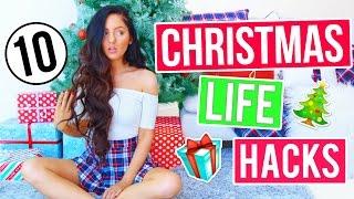 10 DIY Holiday LIFE HACKS You NEED To Try! Christmas Hacks 2016! Decor, Treats + More!