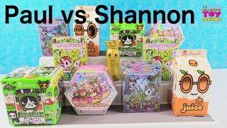 Paul vs Shannon Tokidoki Challenge Cactus Pets Donutella Unicorno Unboxing   PSToyReviews