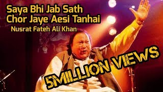 Saya bhi saath jab chorr jaye aisi hai tanhai Nusrat Fateh Ali Khanifrinrana @chandbaatein blogspot