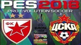 PS4 PES 2018 Gameplay Crvena Zvezda vs ZSKA Moskow [HD]