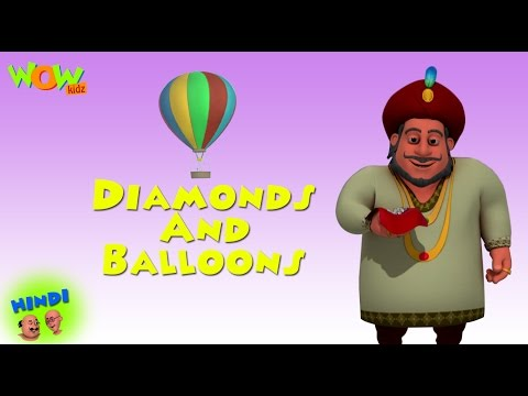 Diamonds And Balloons - Motu Patlu in Hindi - ENGLISH, SPANISH & FRENCH SUBTITLES! Cartoon for Kids